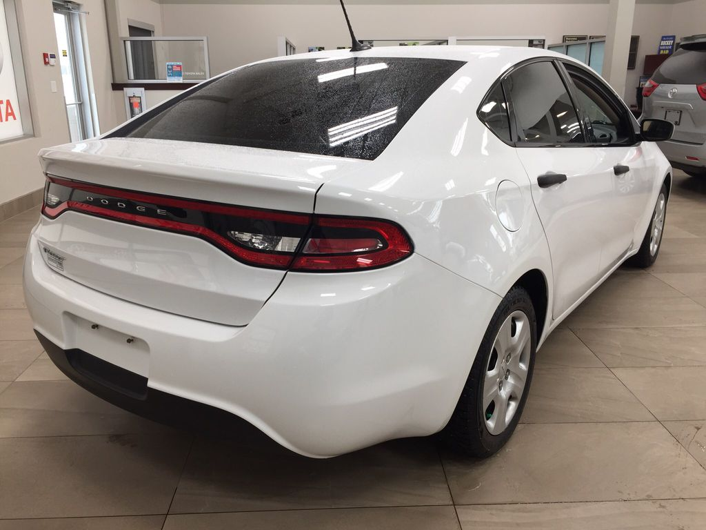 White[Bright White Clearcoat] 2014 Dodge Dart Right Rear Corner Photo in Sherwood Park AB