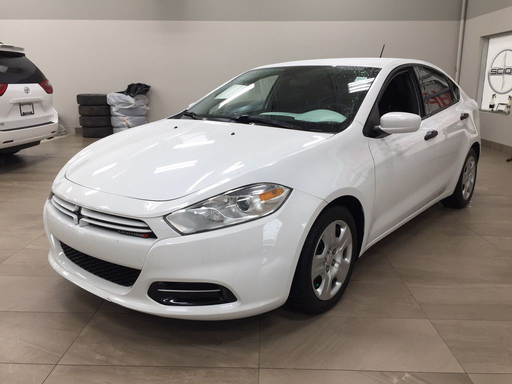 White[Bright White Clearcoat] 2014 Dodge Dart Left Front Corner Photo in Sherwood Park AB