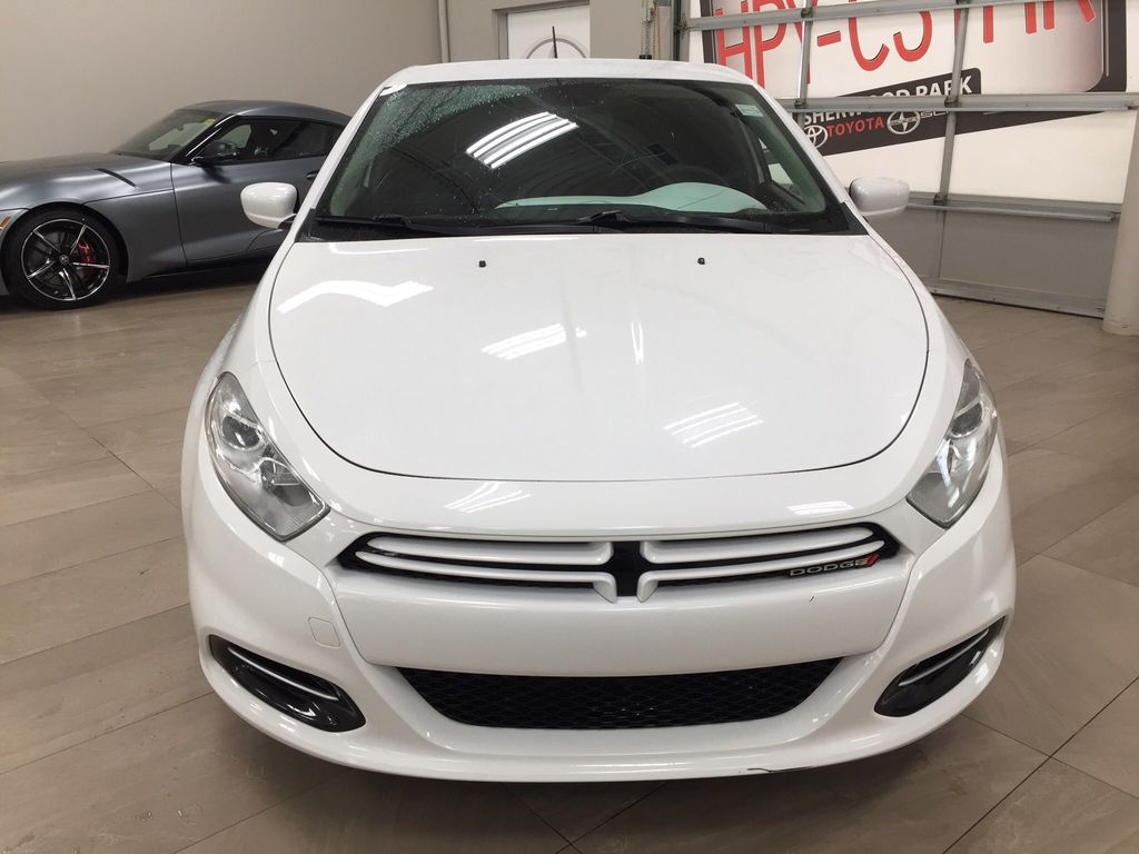 White[Bright White Clearcoat] 2014 Dodge Dart Front Vehicle Photo in Sherwood Park AB
