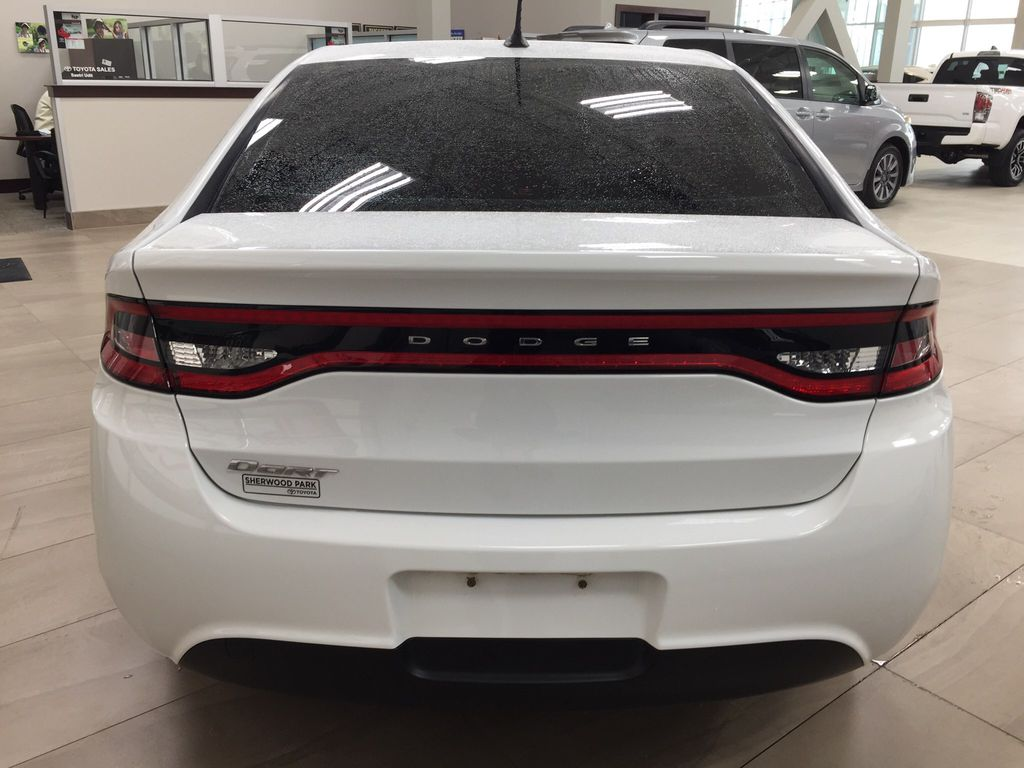 White[Bright White Clearcoat] 2014 Dodge Dart Rear of Vehicle Photo in Sherwood Park AB