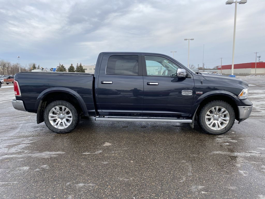 "Gray[Granite Crystal Metallic] 2016 Ram 1500 4WD Crew Cab 140.5"" Longhorn *Heated Seats/Wheel* *Tow Pkg* Right Side Photo in Brandon MB"