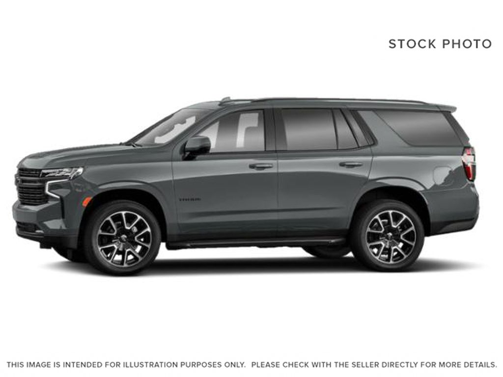 Gray[Satin Steel Metallic] 2021 Chevrolet Tahoe Left Side Photo in Edmonton AB