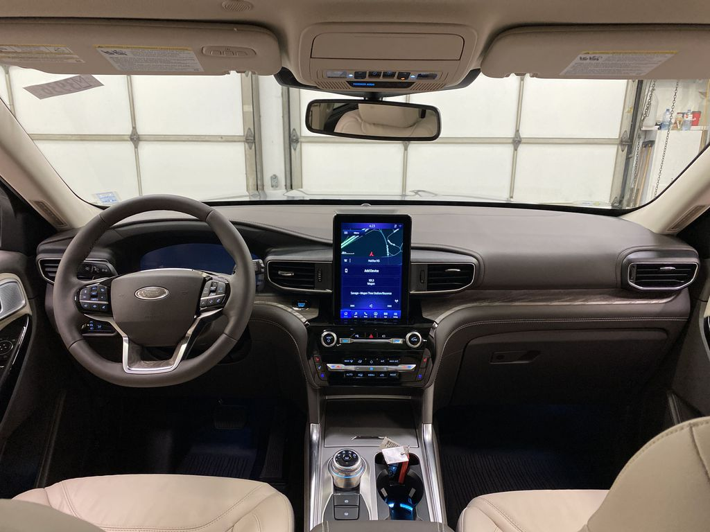 Silver[Iconic Silver Metallic] 2021 Ford Explorer Strng Wheel/Dash Photo: Frm Rear in Dartmouth NS