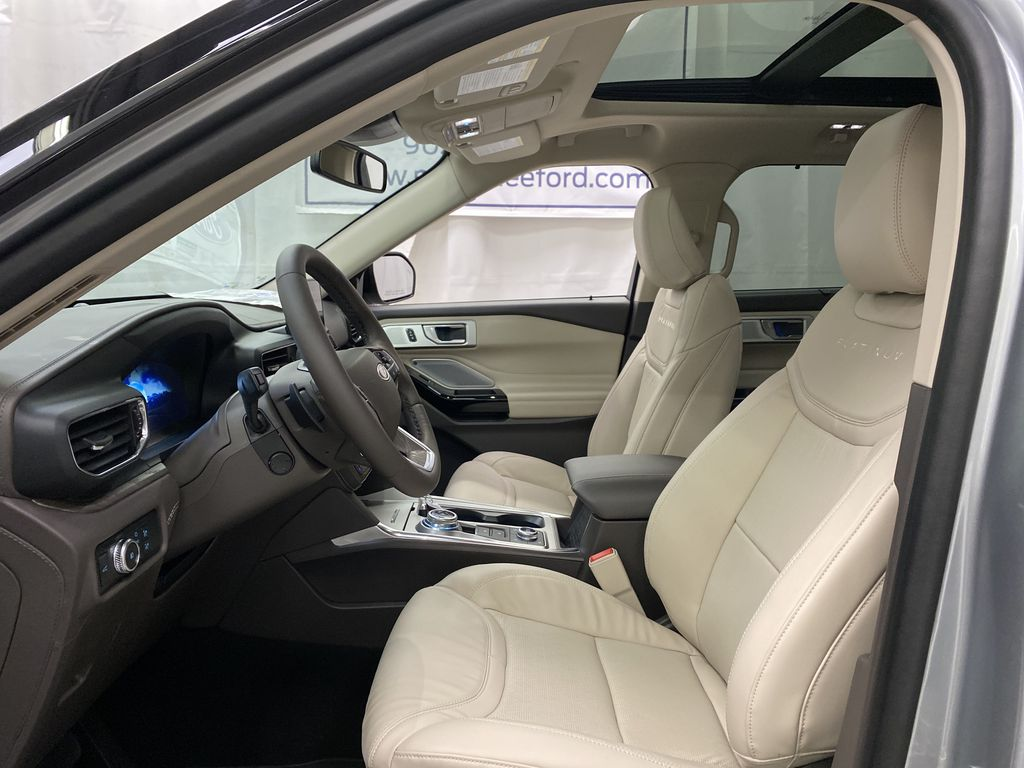 Silver[Iconic Silver Metallic] 2021 Ford Explorer Left Front Interior Photo in Dartmouth NS