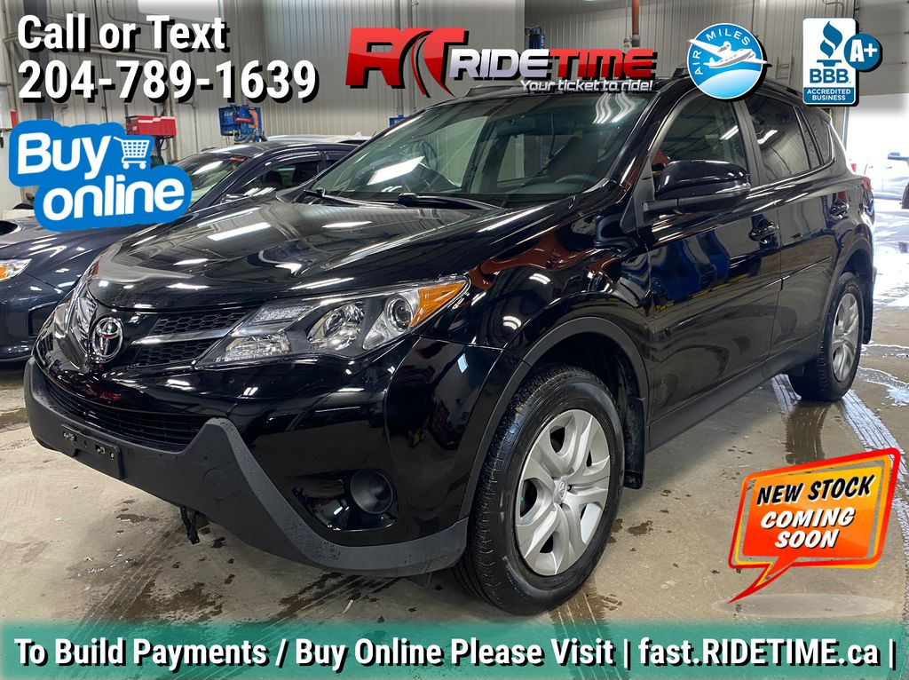 Black[Black] 2014 Toyota RAV4 LE AWD - 2 Sets Of Wheels
