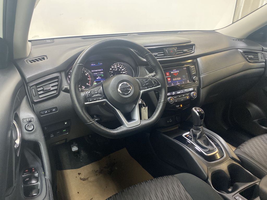WHITE 2020 Nissan Rogue S AWD - Backup Camera, Bluetooth, Blind Spot Monitor Steering Wheel and Dash Photo in Edmonton AB