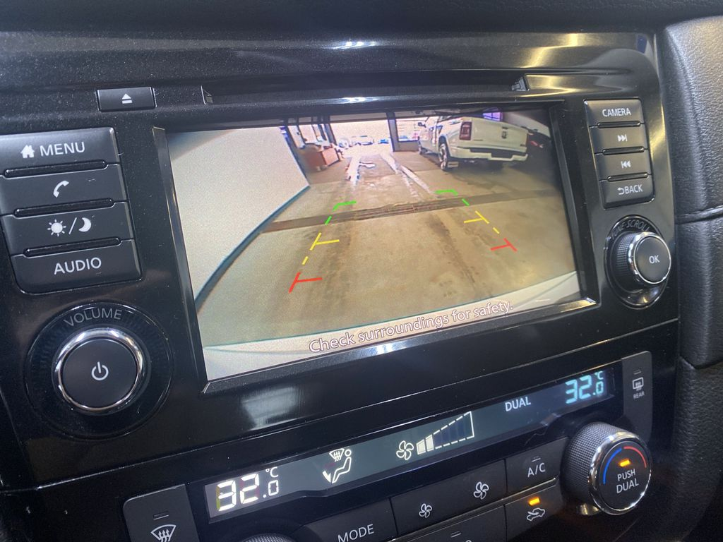 WHITE 2020 Nissan Rogue S AWD - Backup Camera, Bluetooth, Blind Spot Monitor Backup Camera Closeup Photo in Edmonton AB