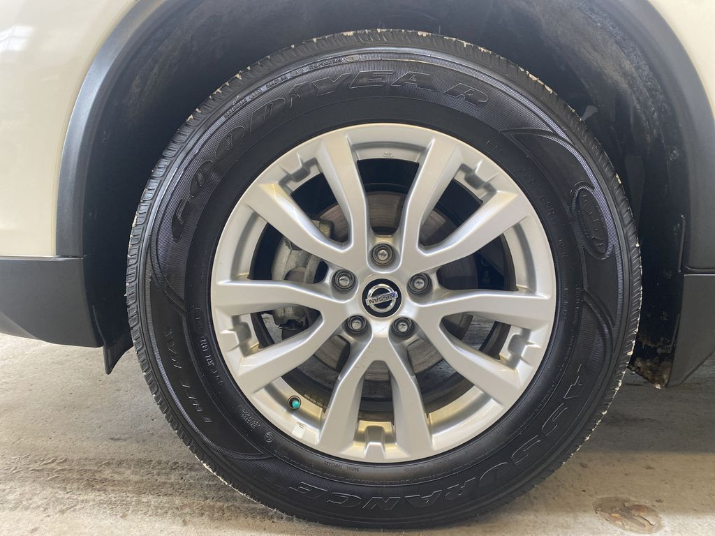 WHITE 2020 Nissan Rogue S AWD - Backup Camera, Bluetooth, Blind Spot Monitor Left Front Rim and Tire Photo in Edmonton AB