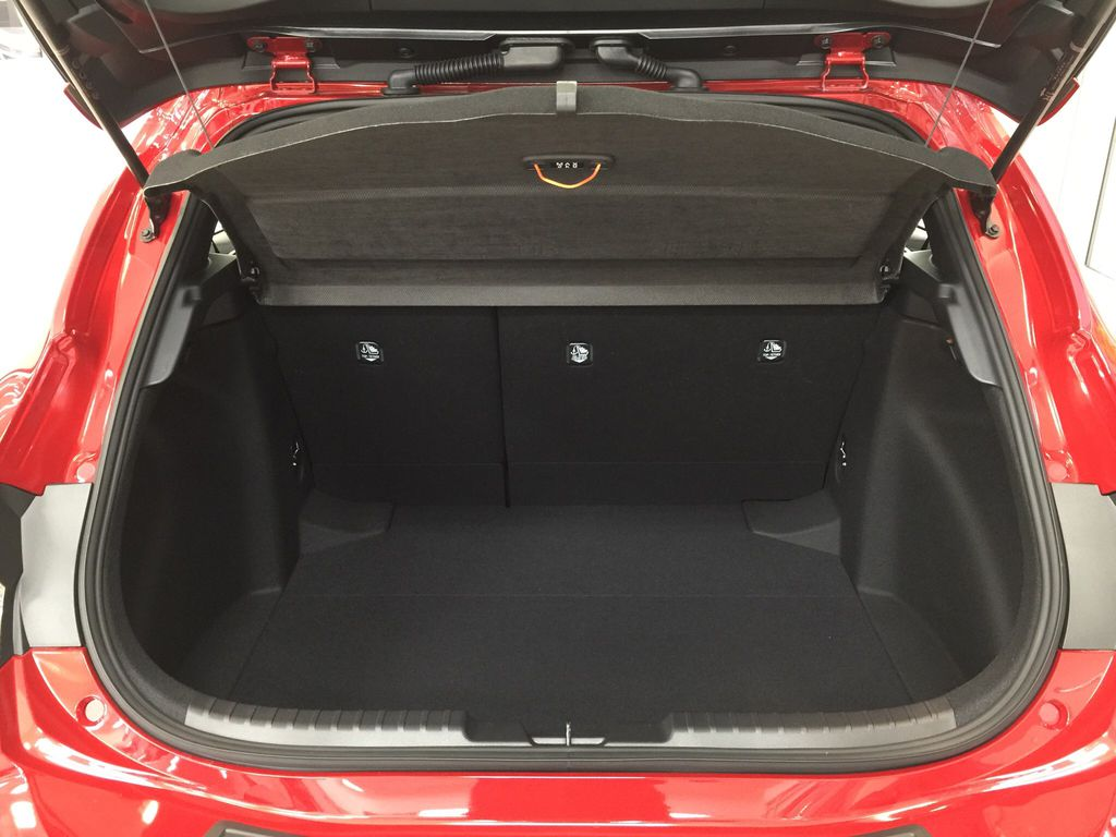 Red[Supersonic Red] 2021 Toyota Corolla Special Edition Hatchback Cargo Area/Rear Seats Photo in Sherwood Park AB
