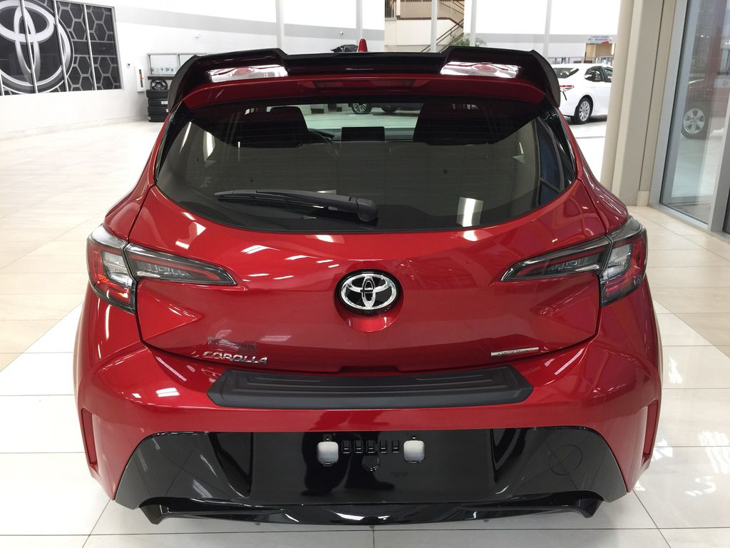 Red[Supersonic Red] 2021 Toyota Corolla Special Edition Hatchback Rear of Vehicle Photo in Sherwood Park AB