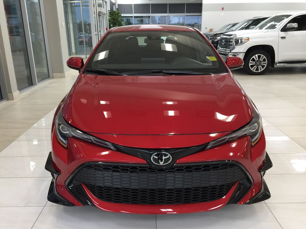Red[Supersonic Red] 2021 Toyota Corolla Special Edition Hatchback Front Vehicle Photo in Sherwood Park AB