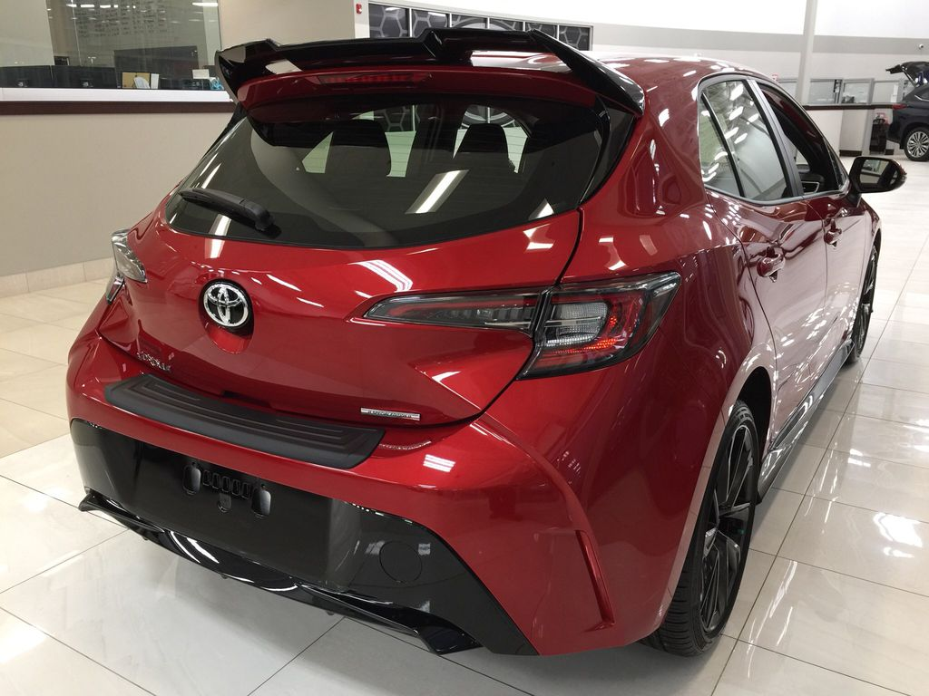 Red[Supersonic Red] 2021 Toyota Corolla Special Edition Hatchback Right Rear Corner Photo in Sherwood Park AB