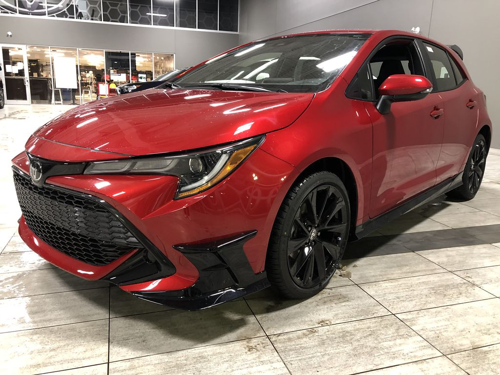 Supersonic Red 2021 Toyota Corolla Hatchback Special Edition CVT Left Side Rear Seat  Photo in Edmonton AB
