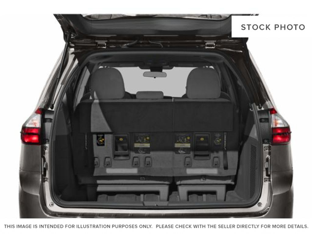 Gray[Pre-Dawn Grey Mica] 2020 Toyota Sienna LE AWD 7 Passenger Trunk / Cargo Area Photo in Kelowna BC
