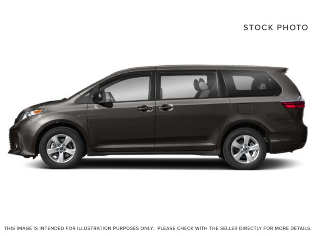 Gray[Pre-Dawn Grey Mica] 2020 Toyota Sienna LE AWD 7 Passenger Left Side Photo in Kelowna BC