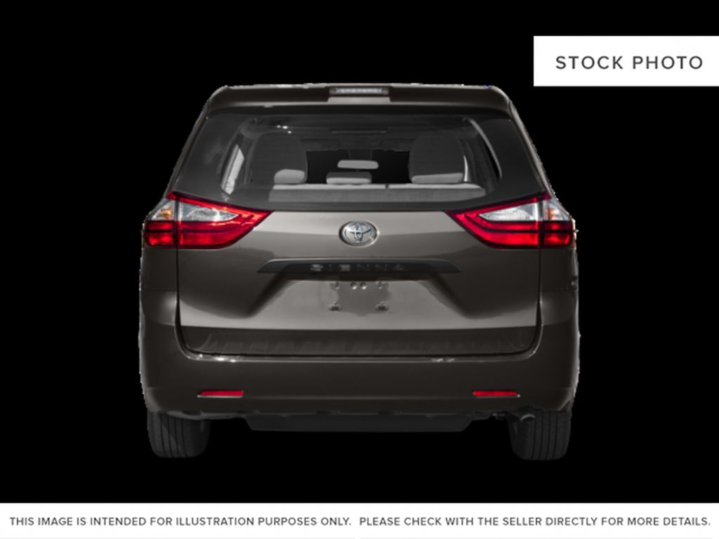 Gray[Pre-Dawn Grey Mica] 2020 Toyota Sienna LE AWD 7 Passenger Rear of Vehicle Photo in Kelowna BC