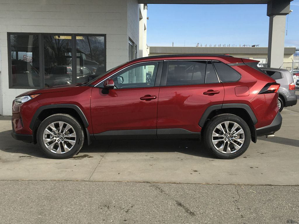 Red[Ruby Flare Pearl] 2021 Toyota RAV4 XLE Premium Left Side Photo in Kelowna BC