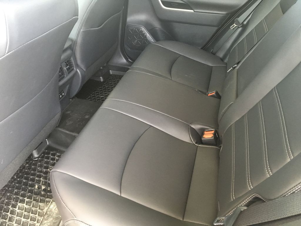 Red[Ruby Flare Pearl] 2021 Toyota RAV4 XLE Premium Left Side Rear Seat  Photo in Kelowna BC