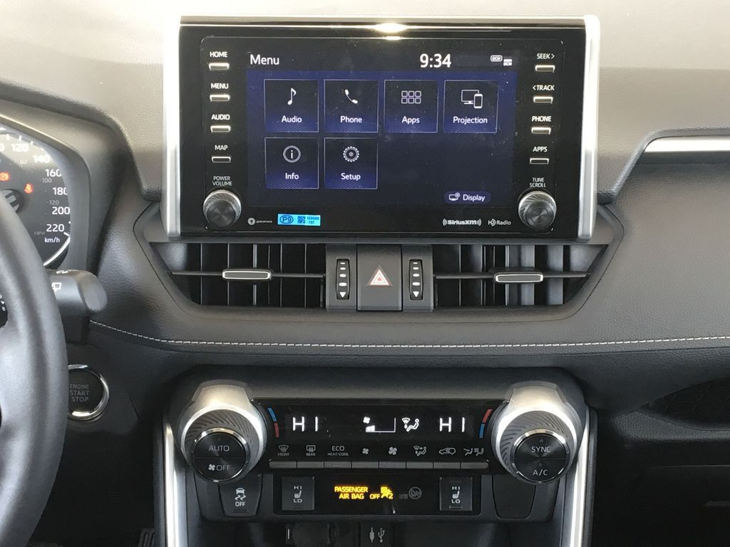 Red[Ruby Flare Pearl] 2021 Toyota RAV4 XLE Premium Central Dash Options Photo in Kelowna BC