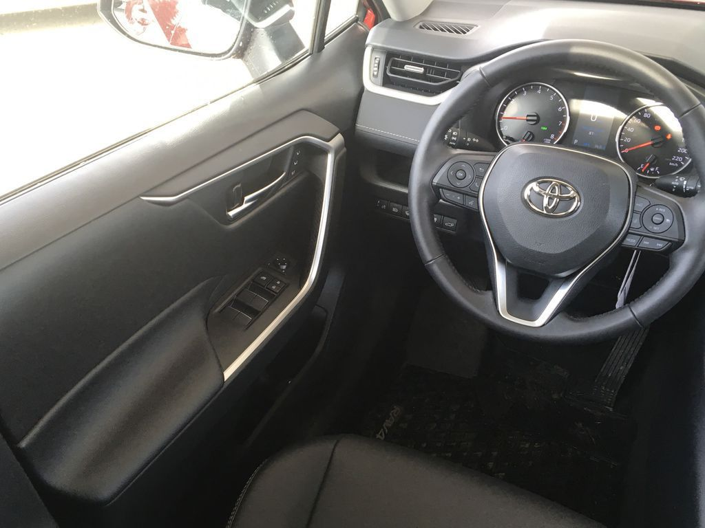 Red[Ruby Flare Pearl] 2021 Toyota RAV4 XLE Premium Left Front Interior Door Panel Photo in Kelowna BC