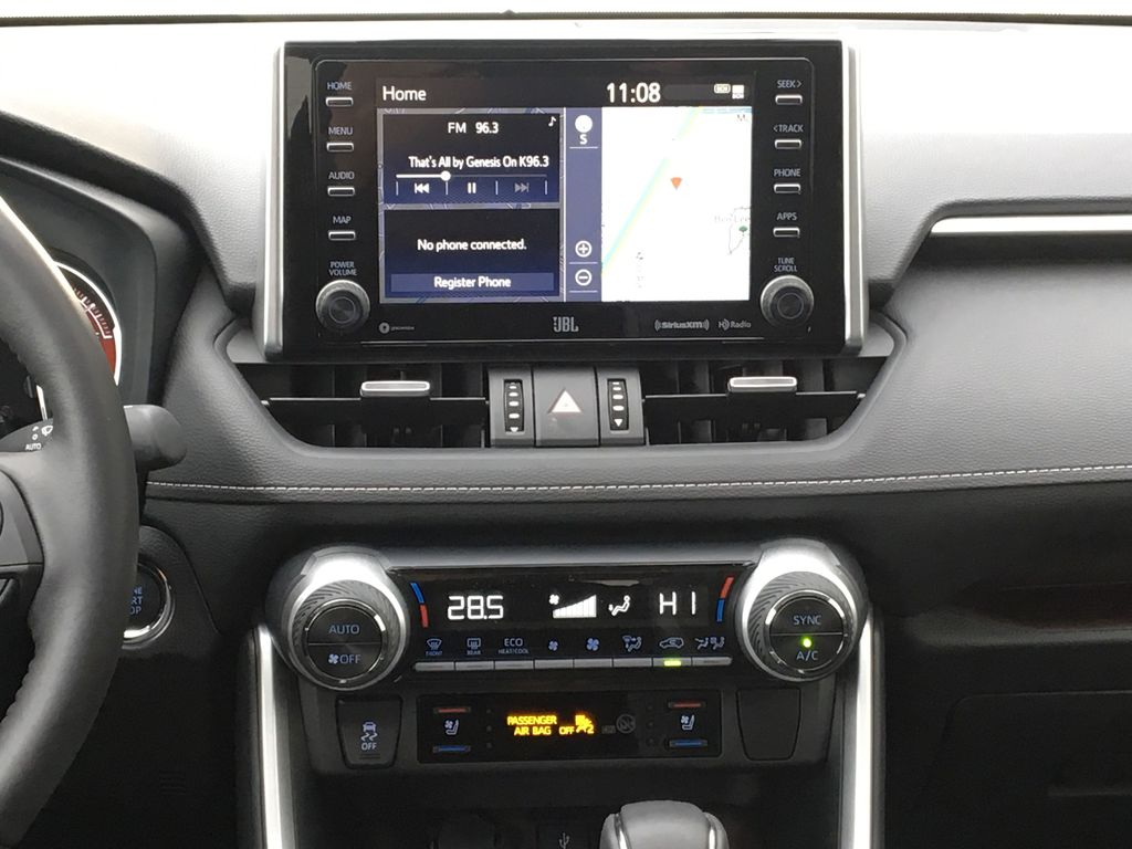 White[Blizzard Pearl] 2021 Toyota RAV4 Limited Central Dash Options Photo in Kelowna BC