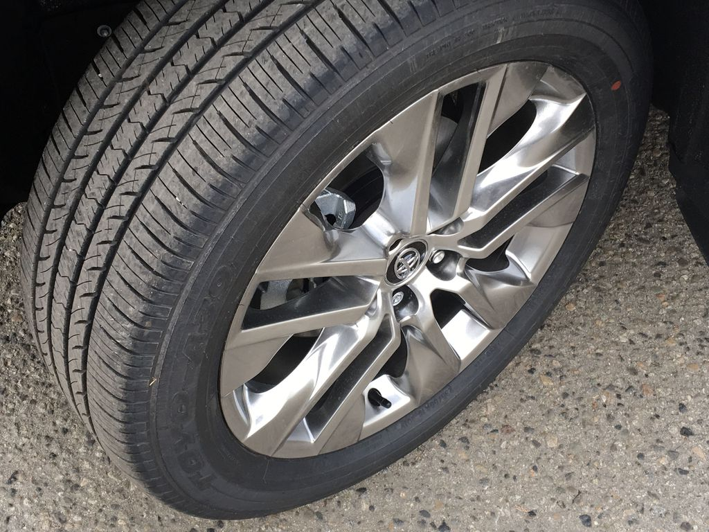 White[Blizzard Pearl] 2021 Toyota RAV4 Limited Left Front Rim and Tire Photo in Kelowna BC