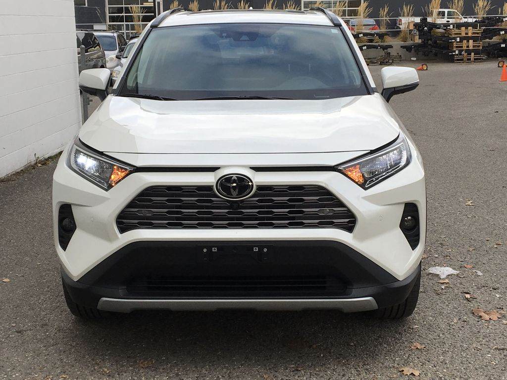 White[Blizzard Pearl] 2021 Toyota RAV4 Limited Front Vehicle Photo in Kelowna BC