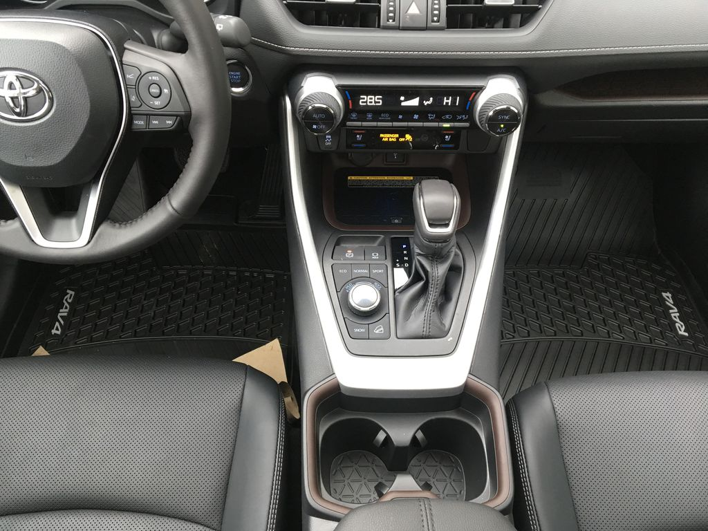 White[Blizzard Pearl] 2021 Toyota RAV4 Limited Center Console Photo in Kelowna BC