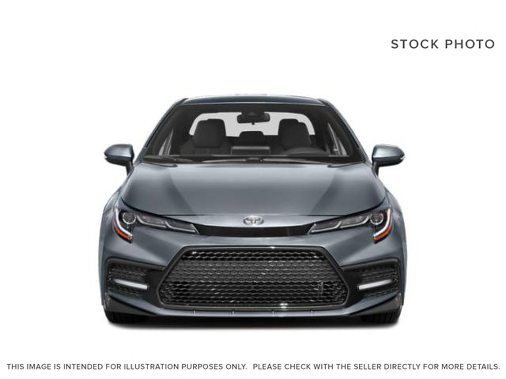 Gray[Cement Grey w/Black Roof] 2021 Toyota Corolla SE Front Vehicle Photo in Kelowna BC