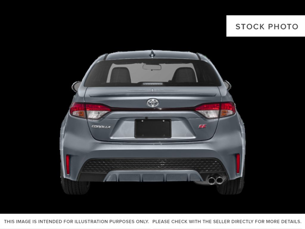 Gray[Cement Grey w/Black Roof] 2021 Toyota Corolla SE Rear of Vehicle Photo in Kelowna BC