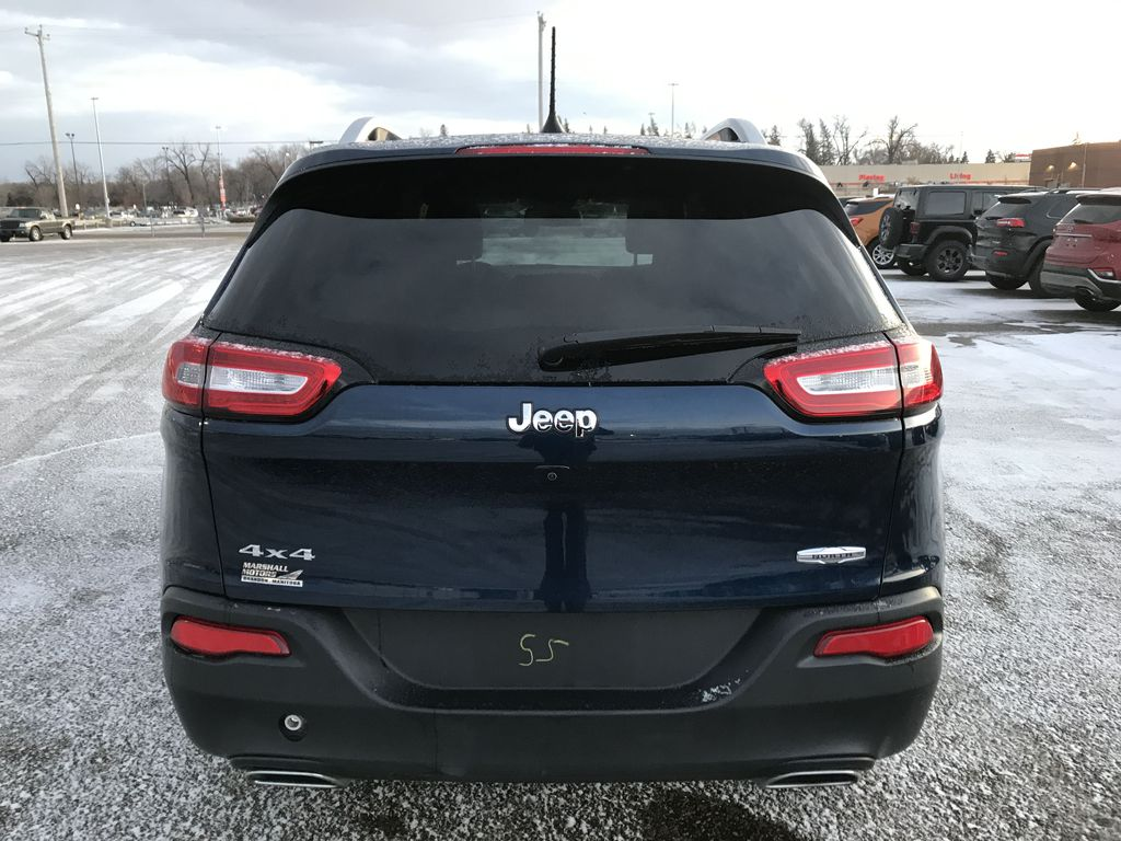 """Blue 2018 Jeep Cherokee North 4x4 *Heated Seats/Wheel* *Remote Start* *8.4"""" Touchscreen* Rear of Vehicle Photo in Brandon MB"""