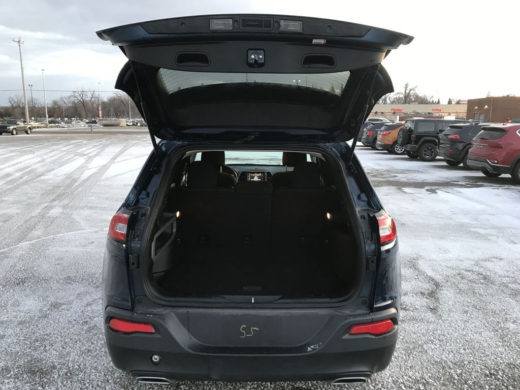 """Blue 2018 Jeep Cherokee North 4x4 *Heated Seats/Wheel* *Remote Start* *8.4"""" Touchscreen* Trunk / Cargo Area Photo in Brandon MB"""