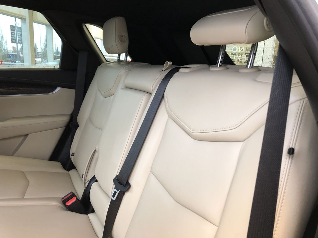 White[Crystal White Tricoat] 2019 Cadillac XT5 Left Side Rear Seat  Photo in Edmonton AB