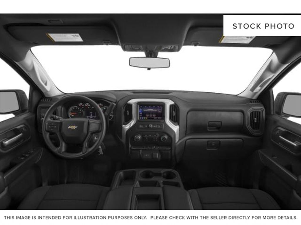 Gray[Shadow Grey Metallic] 2021 Chevrolet Silverado 1500 Custom Central Dash Options Photo in Canmore AB