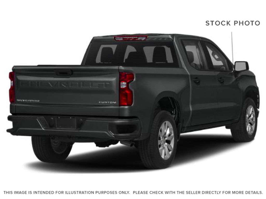 Gray[Shadow Grey Metallic] 2021 Chevrolet Silverado 1500 Custom Right Rear Corner Photo in Canmore AB
