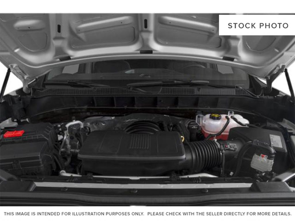 Gray[Shadow Grey Metallic] 2021 Chevrolet Silverado 1500 Custom Engine Compartment Photo in Canmore AB