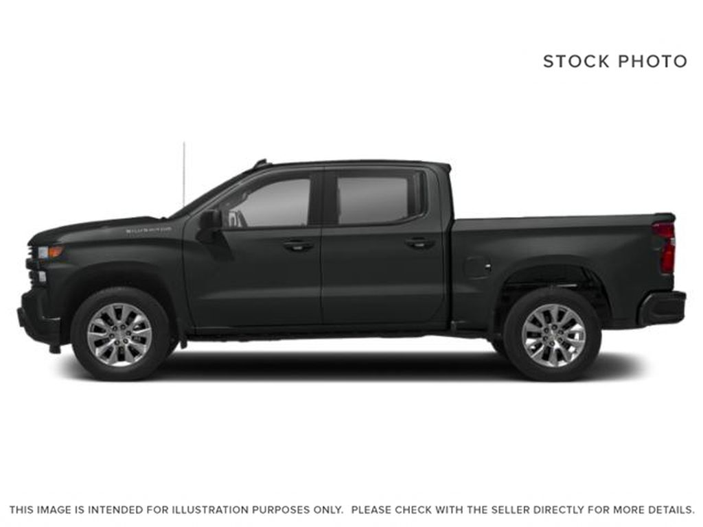 Gray[Shadow Grey Metallic] 2021 Chevrolet Silverado 1500 Custom Left Side Photo in Canmore AB