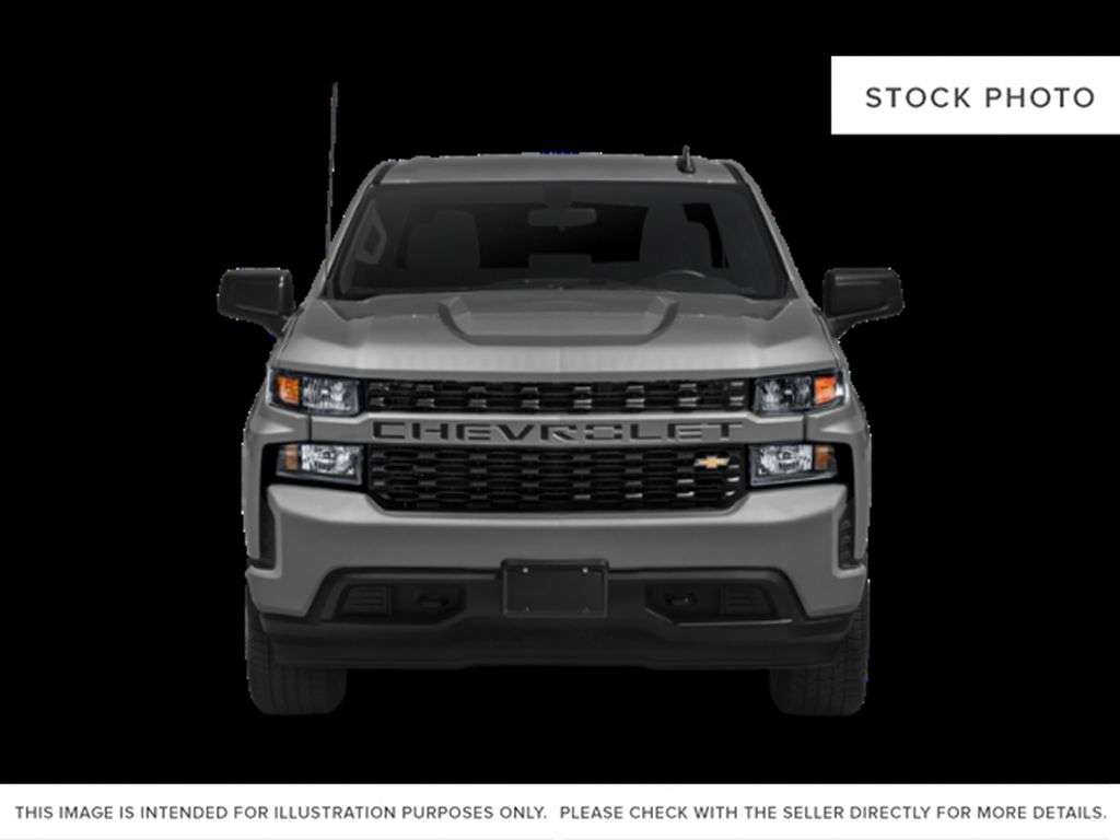 Gray[Shadow Grey Metallic] 2021 Chevrolet Silverado 1500 Custom Front Vehicle Photo in Canmore AB