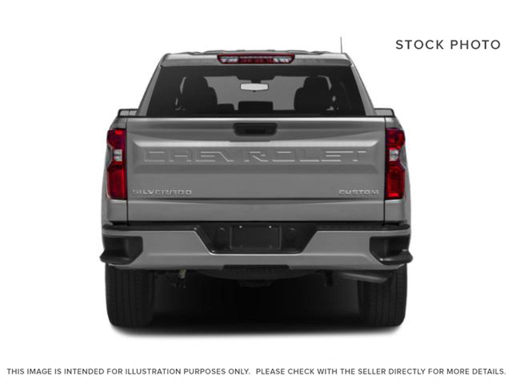 Gray[Shadow Grey Metallic] 2021 Chevrolet Silverado 1500 Custom Rear of Vehicle Photo in Canmore AB