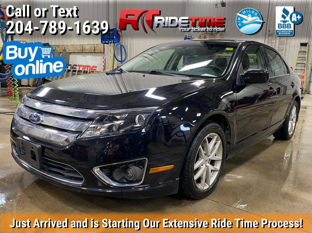 Black[Black] 2012 Ford Fusion SEL AWD - Leather, Sunroof, Alloy Wheels