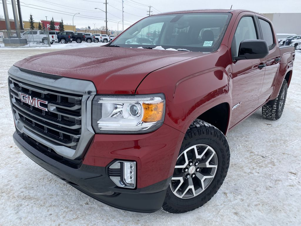 Red[Cayenne Red Tintcoat] 2021 GMC Canyon Left Front Corner Photo in Edmonton AB