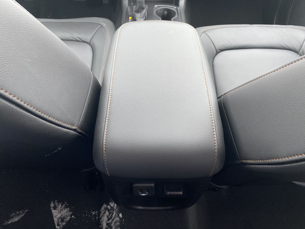 Red[Cayenne Red Tintcoat] 2021 GMC Canyon Center Console Photo in Edmonton AB
