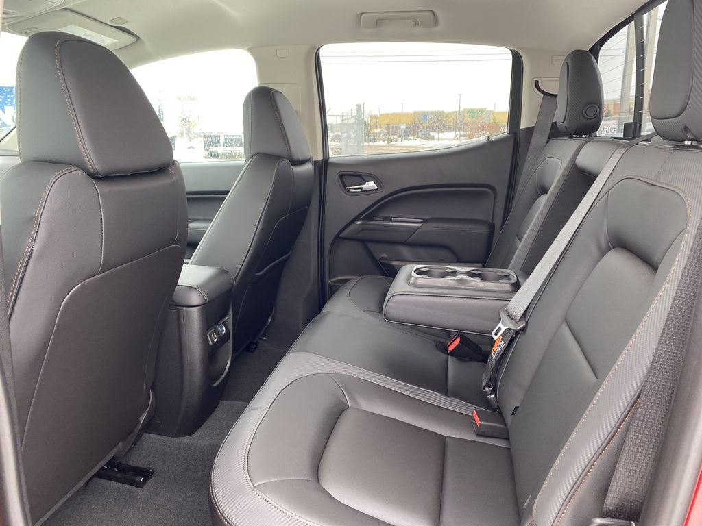 Red[Cayenne Red Tintcoat] 2021 GMC Canyon Left Side Rear Seat  Photo in Edmonton AB