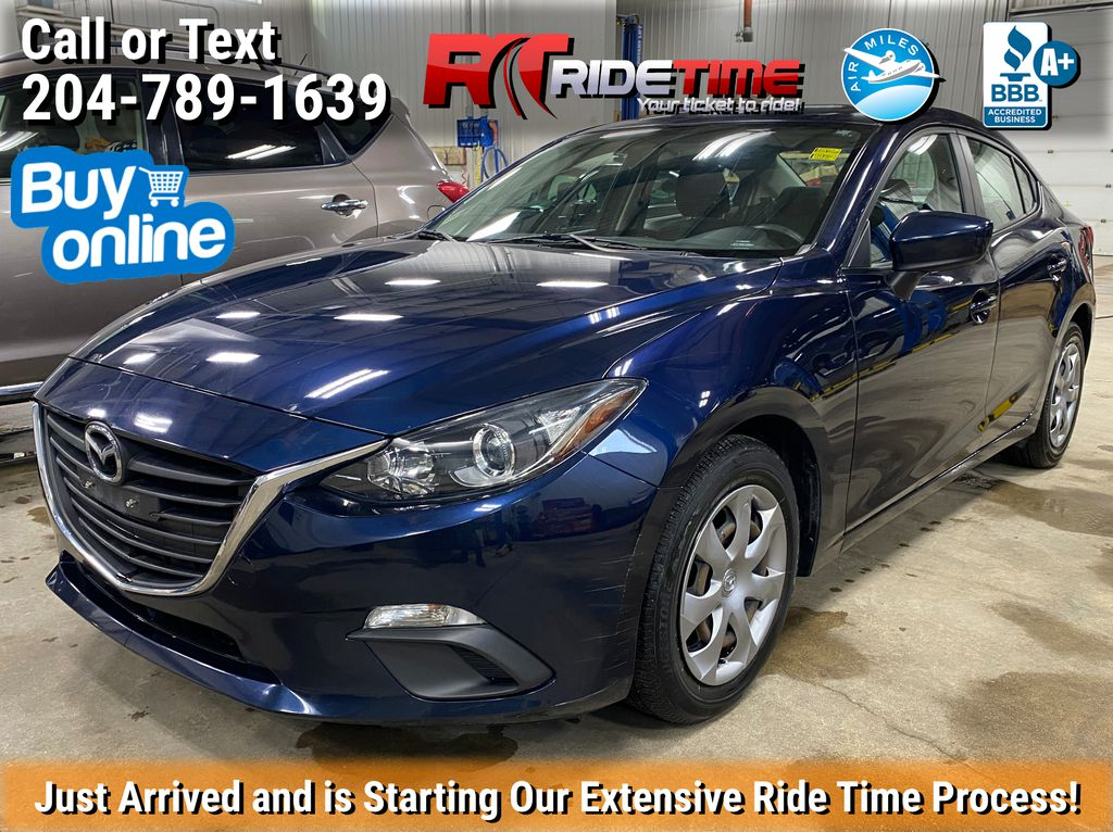 Blue[Deep Crystal Blue Mica] 2015 Mazda Mazda3 GX - Automatic, Clean CarFax, Low KMs