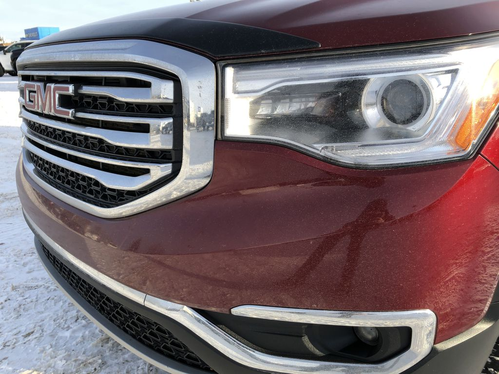 Red[Crimson Red Tintcoat] 2017 GMC Acadia Left Front Head Light / Bumper and Grill in Edmonton AB