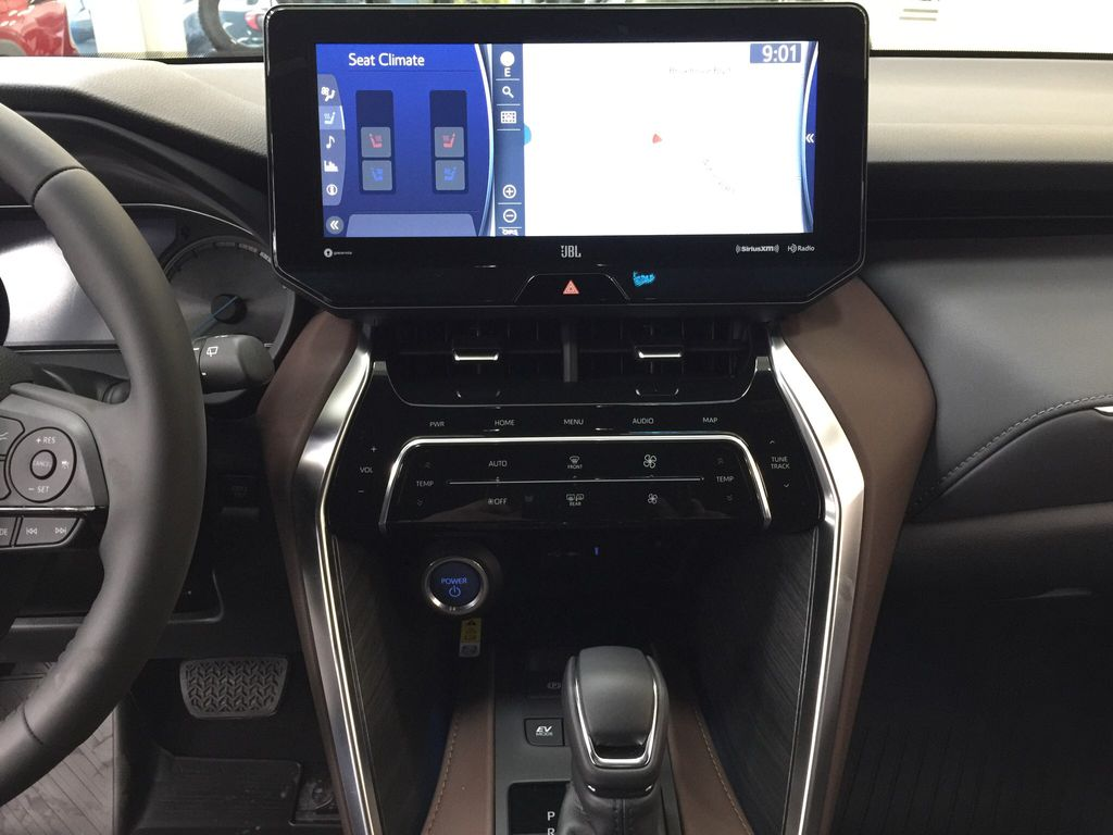 White[Blizzard Pearl] 2021 Toyota Venza XLE Hybrid Central Dash Options Photo in Sherwood Park AB