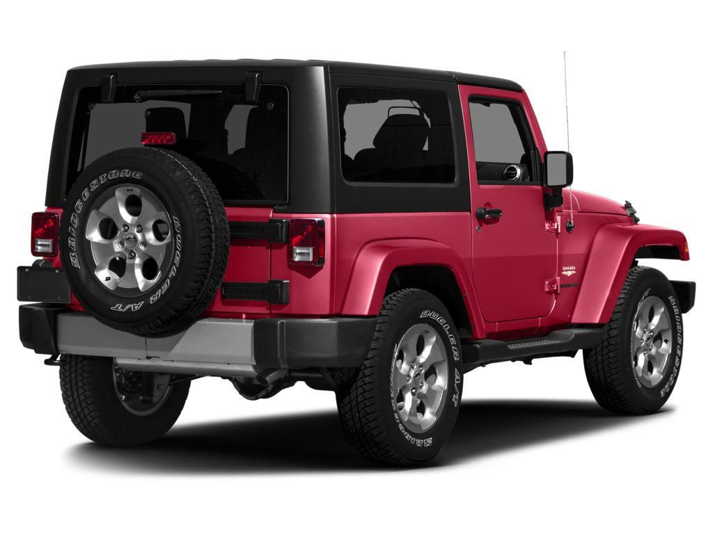 Red 2015 Jeep Wrangler Left Front Rim and Tire Photo in Fort Macleod AB