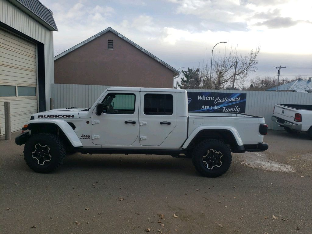 White 2021 Jeep Gladiator Left Front Interior Door Panel Photo in Fort Macleod AB