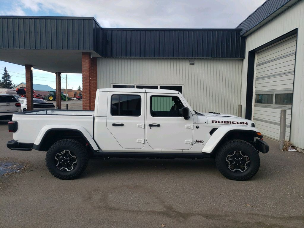 White 2021 Jeep Gladiator Left Front Interior Photo in Fort Macleod AB