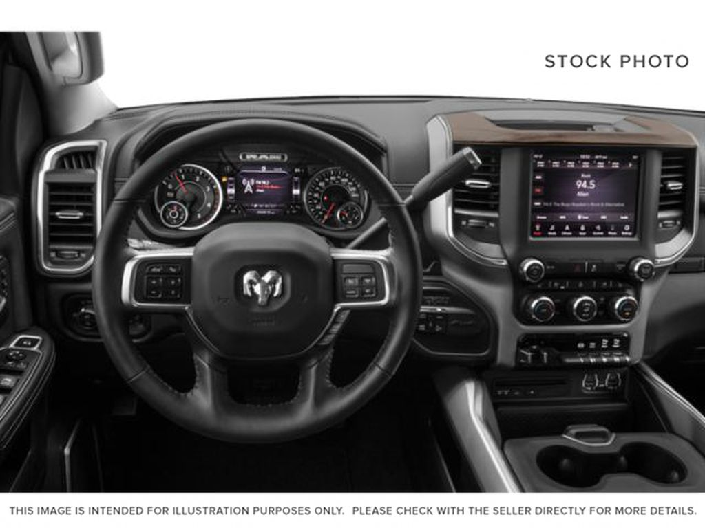 White[Pearl White] 2020 Ram 2500 Steering Wheel and Dash Photo in Fort Macleod AB